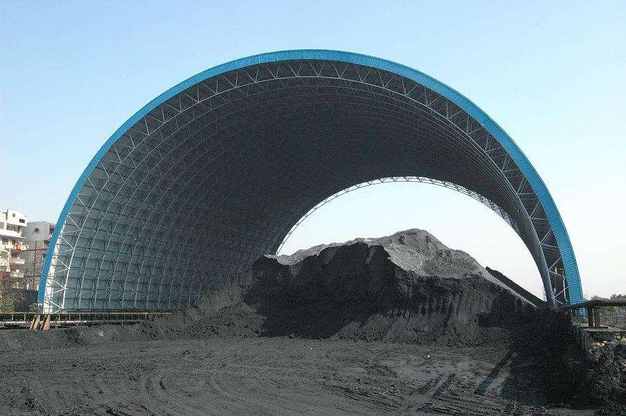 廣東省潮州熱電廠煤棚工業網架