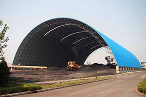 廣東潮州電廠煤棚網架