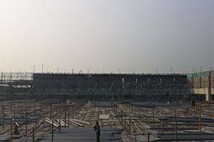 上海虹橋機場雙機位維修機庫屋蓋鋼網架